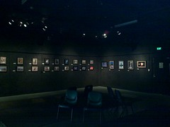 Exhibition setup at 1812 Theatre - more of my photos