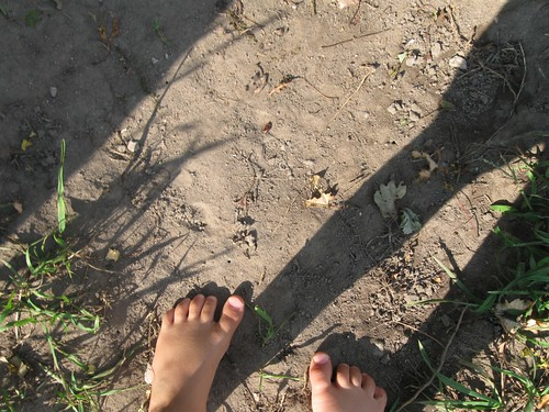 dirt, feet, shadow
