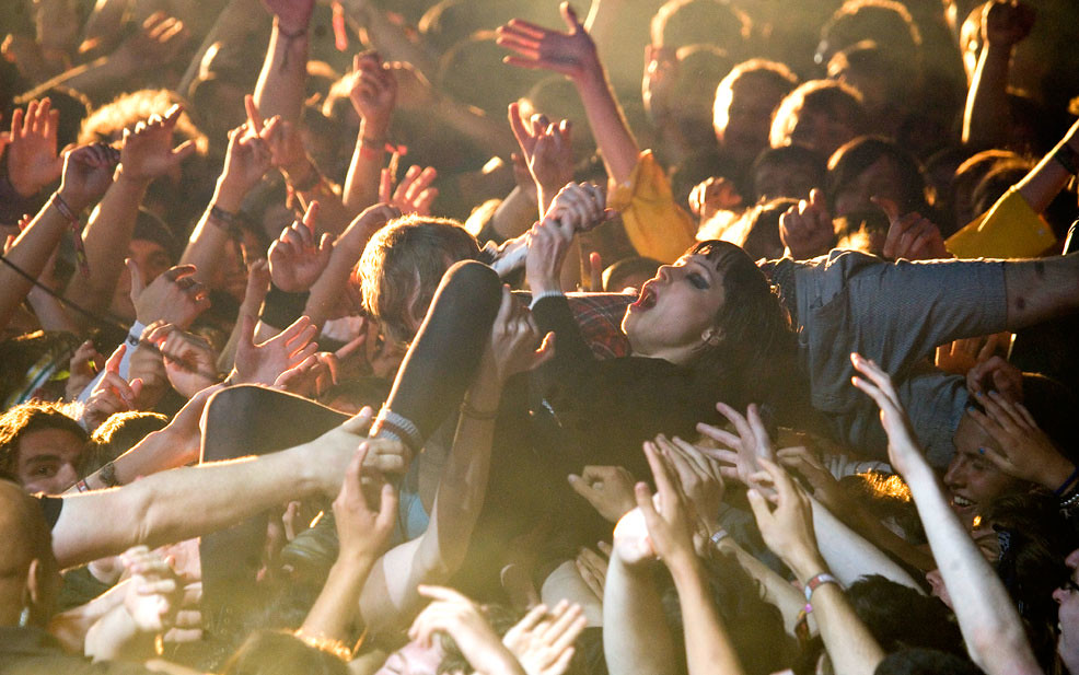 Crowd surfing naked clip