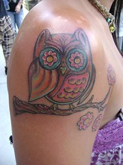 owl tattoo (tatzbyjustin) Tags: tattoos owl tatoos tatoo tat tats tatz