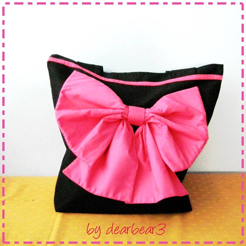 huge ribbon bag♥
