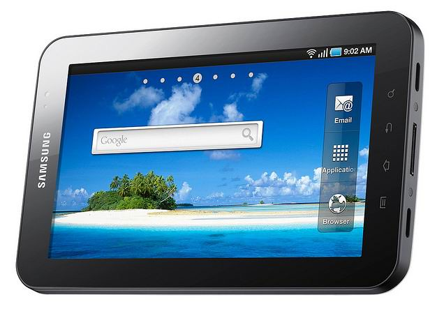 Samsung GALAXY Tab screen