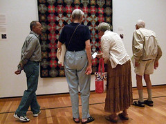 Quilt show at the Johnson Museum