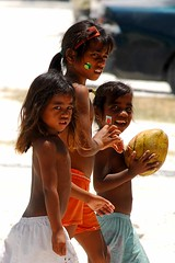 Stickers (MJField) Tags: girls children kiribati tarawa micronesian