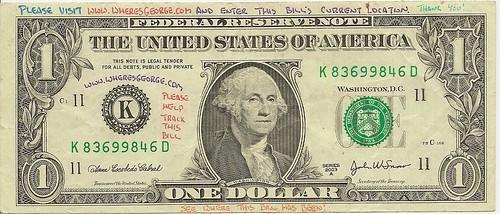 Where's George $1