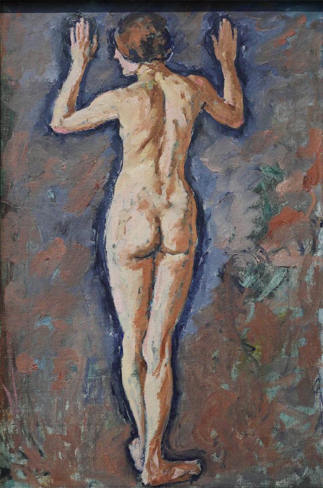 Koloman Moser, Weiblicher Rückenakt [Nude Woman from Behind], 1912-14