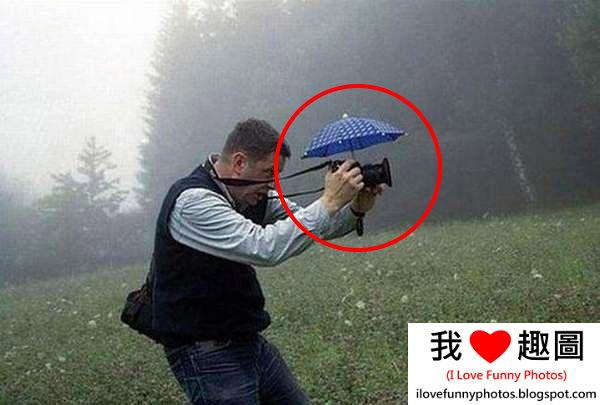 下雨用相機拍照的方法