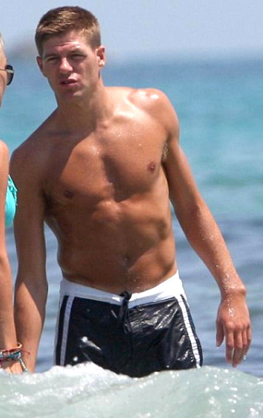 Steven Gerrard shirtless