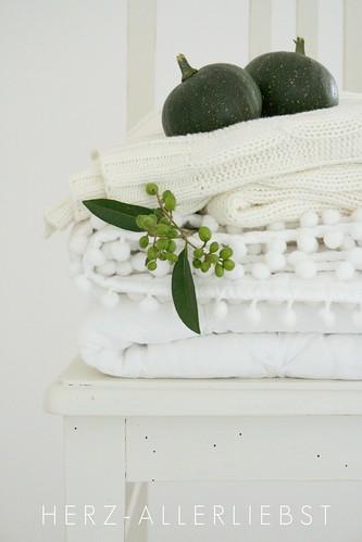 Grün auf weiß