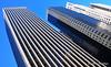 Towers (Rafakoy) Tags: city nyc newyorkcity blue windows sky ny newyork color colour building tower colors skyline architecture digital buildings high colours manhattan towers tall nikond90 afsnikkor18105mmvr aldorafaelaltamirano rafaelaltamirano aldoraltamirano