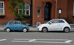 Welcome to the present.. (tWm.) Tags: new blue original white london classic nikon fiat 1975 1957 500 nikkor 18200 d5000