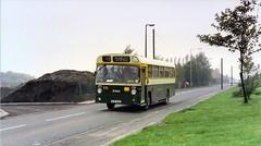 Ex Lancaster Leyland Leopard, Hednesford 1992 (Walsall1955) Tags: cannock hednesford eastlancs leylandleopard lancastercitytransport greenbusservice warstonemotors rte110g e111g