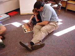 reading I Spy with Dad