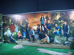 LOST Auction - cast photo backdrop (Doug Kline) Tags: lost photo tv mural auction santamonica cast backdrop abc prop barkerhangar