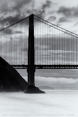 The Tale of Two Towers - Kirby Cove, Marin Headlands, California (Jim Patterson Photography) Tags: ocean sanfrancisco california city morning sea portrait sky blackandwhite usa seascape beach nature monochrome vertical fog clouds sunrise landscape photography dawn bay coast marine pacific cove tripod shoreline coastal goldengatebridge filter shore lee baybridge coastline gitzo marinheadlands daybreak kirbycove reallyrightstuff yerbabuenaisland neutraldensity varind singhray graduatedneutraldensity nikkor70200mm nikond300 markinsm20ballhead beneathblueseas jimpattersonphotography jimpattersonphotographycom seatosummitworkshops seatosummitworkshopscom