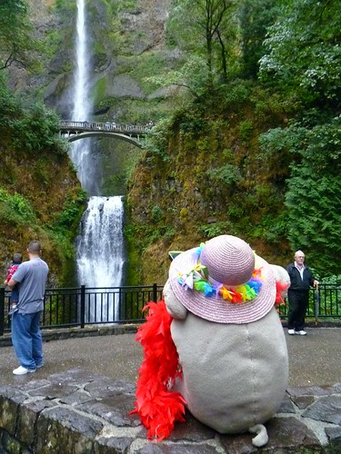 Ms Ella at Multnomah Falls, OR