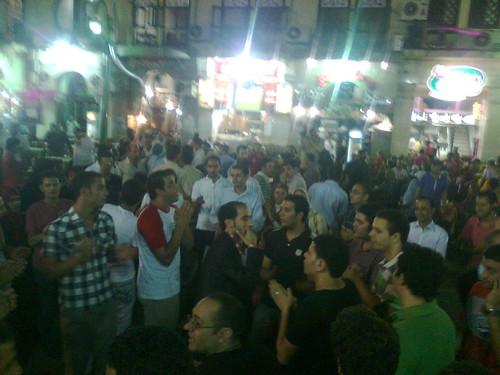 مسيرة شباب 6 ابريل قبل سحور الحركة فى الحسين