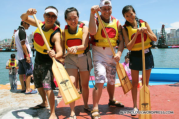 Our four cheery paddlers