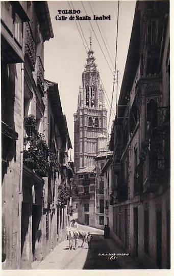 Calle de Santa Isabel a principios del siglo XX. Foto Alsina