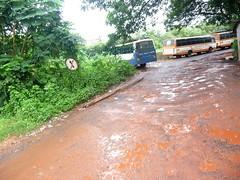 Potholes at KTC Bus Stand, Panjim, Goa (dirtypanjim4) Tags: road bus station stand unsafe dangerous pond hole capital transport goa corporation pot pathetic potholes panjim condition ktc kadamba joegoauk