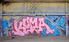 Kick It! (break.things) Tags: nyc newyorkcity ny newyork abandoned graffiti queens fe kuma kickit testin sonet gkf hso feism