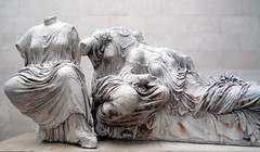 Phidias, Parthenon, Detail of the East Pediment Sculpture (Hestia, Dione, Aphrodite?)
