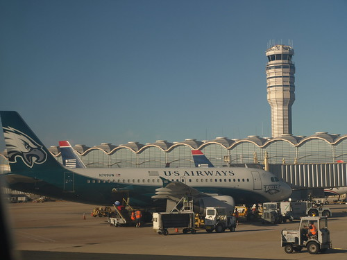 US Airways Philadelphia Eagles plane