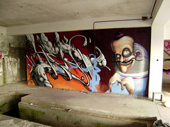 weekend fun (mrzero) Tags: abandoned wall graffiti hungary character eger style area cfs mrzero coloredeffects fatheat
