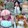 Sachê Bonequinha (Fuxico de Chita) Tags: de flor artesanal fuxico feltro boneca mão tecido feita aplicação sacola ecológica sachê