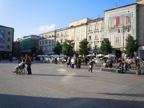 マーケットスクエア in クラクフ
