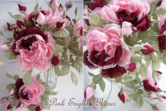 PINK ENGLISH ROSE (kmflower) Tags: flowers english rose fleurs handmade silk arrange