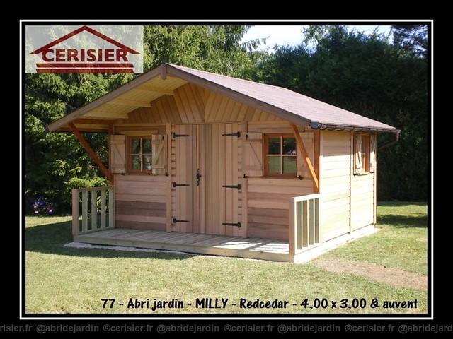 0162 abri jardin MILLY redcedar 400x300  auvent 001 by cerisier77310