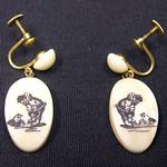 "<b>Earrings with Eskimo and Seal</b><br/> Unknown, Eskimo American (ivory, ca. 1971) LFAC#2008:01:39<a href=""http://farm5.static.flickr.com/4113/4996387277_5029f6b2a0_o.jpg"" title=""High res"">∝</a>"