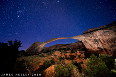 Starfield over Landscape Arch (James Neeley) Tags: nightphotography utah archesnationalpark landscapearch lowlightphotography jamesneeley