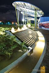 (Lakad Pilipinas) Tags: architecture night restaurant asia metro philippines manila southeast futuristic pods eton luzon quezoncity saucers foodie centris lakadpilipinas centriswalk