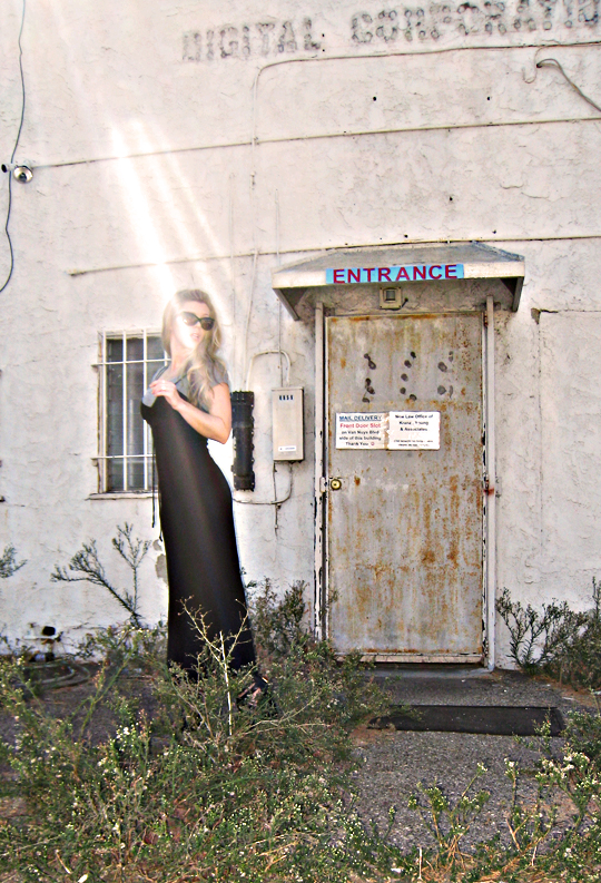 90s black long dress with t shirt - pour la victoire wedges+sharp+filter