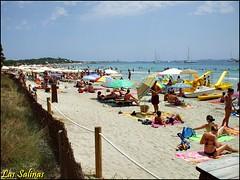 Ibiza - Las Salinas (Vanessa D.B.) Tags: travel sea sky panorama espaa water ibiza eivissa viaggi spiaggia spagna worldbeautiesguide