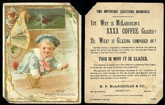 Victorian trade card -  McLAUGHLIN'S XXXX COFFEE Chicago IL (oldsailro) Tags: park old boy sea summer people sun lake chicago playing beach water coffee pool girl sunshine youth sailboat race vintage children fun toy boat miniature wooden pond model waves sailing ship child time yacht antique group victorian boom il mat card regatta hull spectators trade watercraft xxxx adolescence keel fashioned mclaughlins