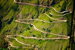 The Long and Winding Road (Roy Prasad) Tags: california travel winter summer vacation usa india mountain snow tourism google nikon rocks view map windy cable aerial glacier beatles winding himalaya nikkor curve 70300mm vr ropeway afs thebeatles auli joshimath badrinath windyroad longandwindingroad uttarkhand d700 joshimatt royprasad joshimatth