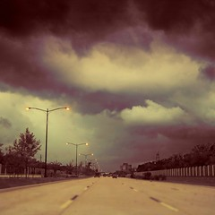 | Right Before the Rain (Jon-F, themachine) Tags: storm japan clouds canon highway driving texas tx powershot  nippon  nihon texan 2010 sugarla