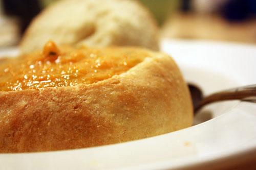 carrot & cilantro soup.