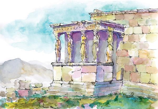 Karyatids on the Acropolis, Athens, Greece
