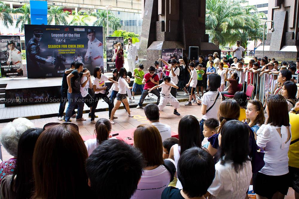 Freeze Flash Mob @ MYFm Promotion of Legend of the Fist (Chen Zhen), BerJaya Times Square, KL, Malaysia