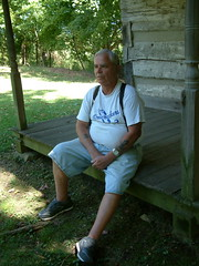 Out and About Sept. 12, 2010 4:  Sitting on the Porch (whitebuffalobk) Tags: sunrise goldfishpond caperock oldmckendreechapel redstarboataccess