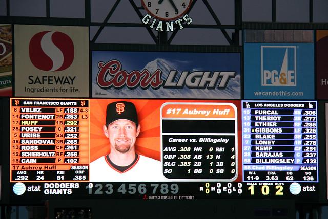 IMG_5543 Aubrey Huff scoreboard