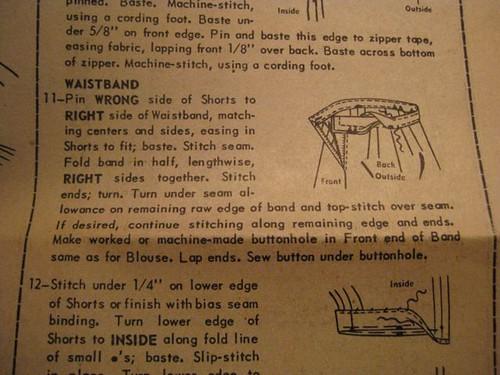 1. Waistband Instructions