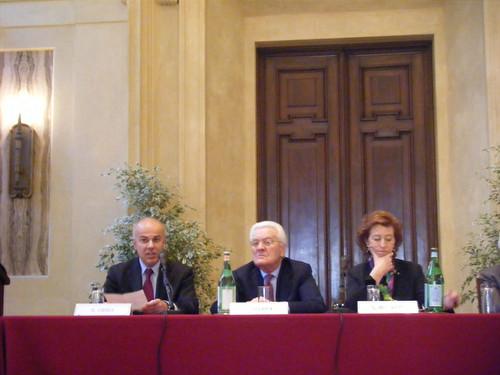 Edoardo Croci con Egidio Sterpa e Letizia Moratti, 23 maggio 2008