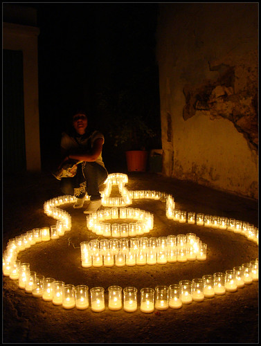 Guitarra de velas Guaro