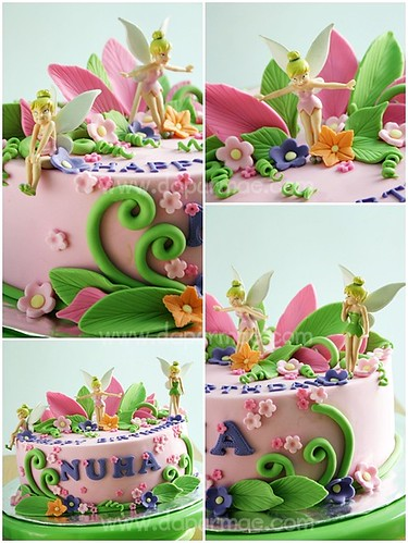 Tinkerbell Cakes Collage