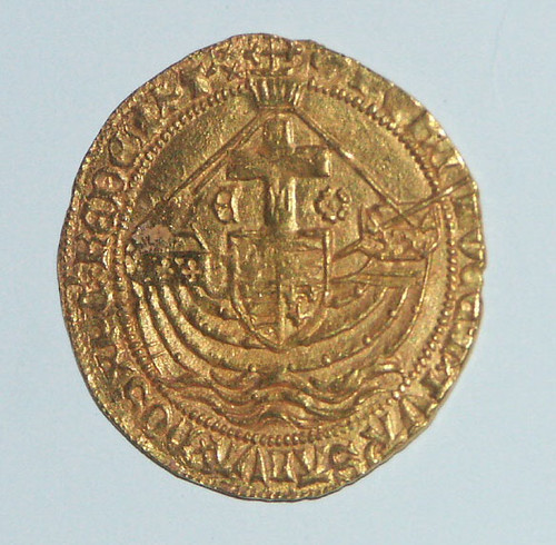 Edward IV Gold Angel (reverse)